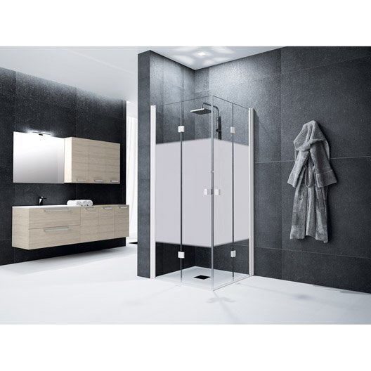 Porte de douche leroy merlin for Porte de douche 100