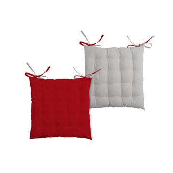 Gallery Of Galette De Chaise Sole Grisrouge L X H Cm With Dessus Rouge Coussin