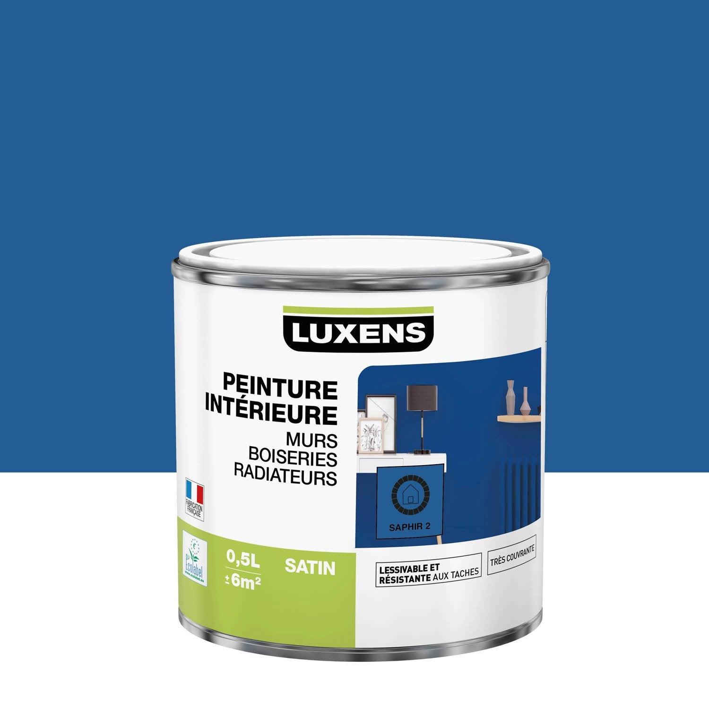 Peinture mur, boiserie, radiateur Multisupports LUXENS, saphir 2, 0.5 l, satin