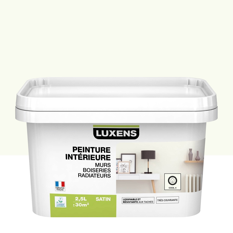 Peindre 2 Murs Sur 4 peinture mur, boiserie, radiateur multisupports luxens cool 4 satiné 2.5 l