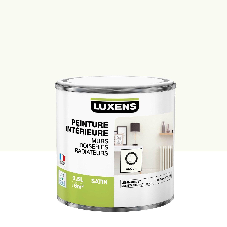 Peinture mur, boiserie, radiateur Multisupports LUXENS, cool 4, 0.5 l, satin
