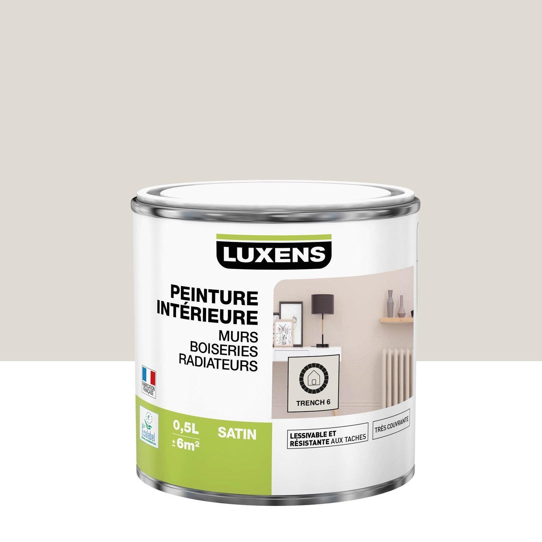 Peinture mur, boiserie, radiateur LUXENS, trench 6 0.5 l, satin