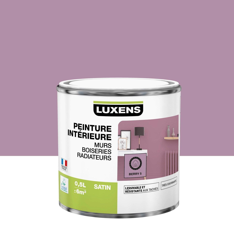 Peinture mur, boiserie, radiateur Multisupports LUXENS, berry 5, 0.5 l, satin