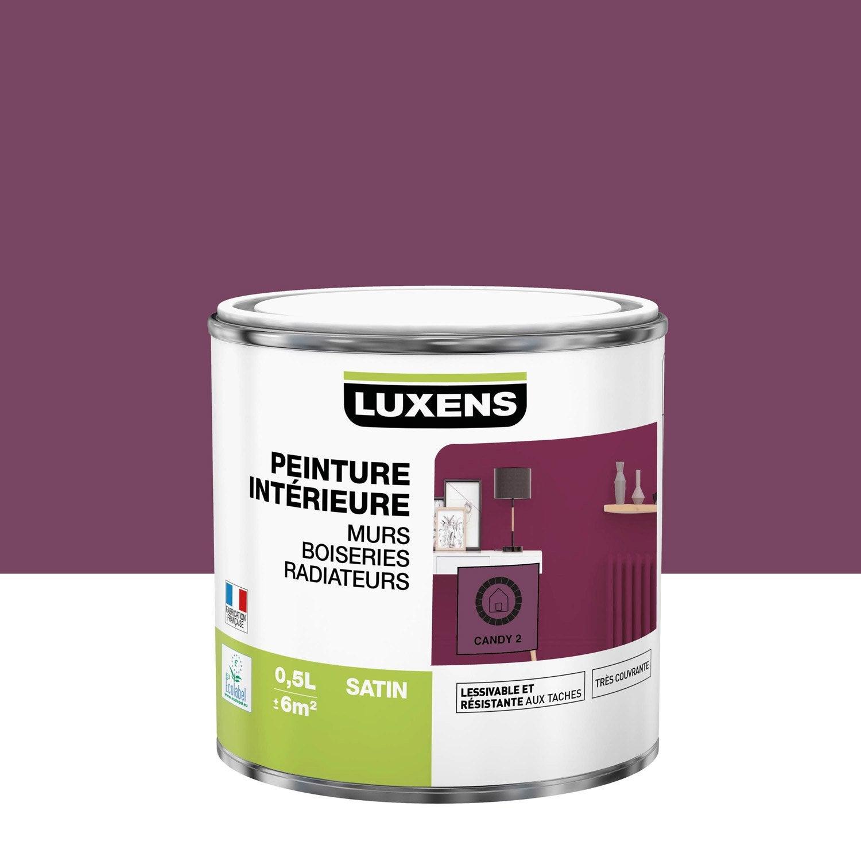 Peinture mur, boiserie, radiateur Multisupports LUXENS, candy 2, 0.5 l, satin