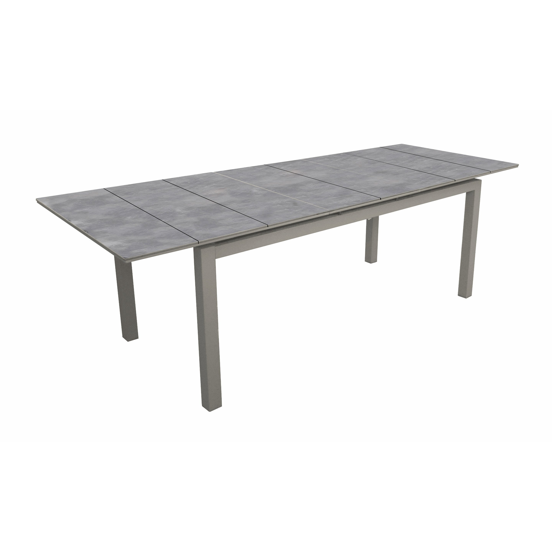 Table de jardin de repas Moorea rectangulaire taupe/ gris 8/10 ...
