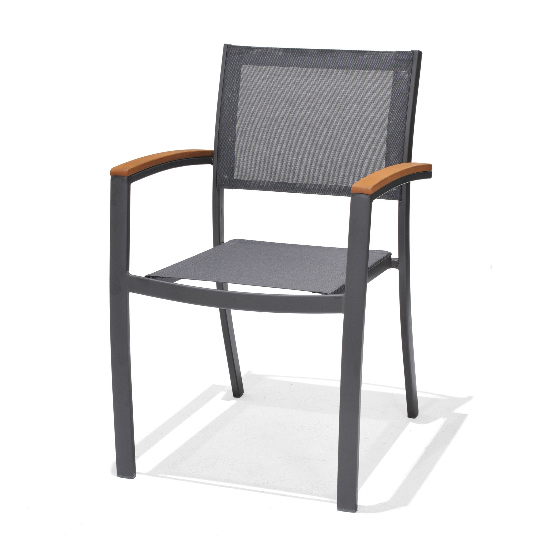 chaise jardin alu bois