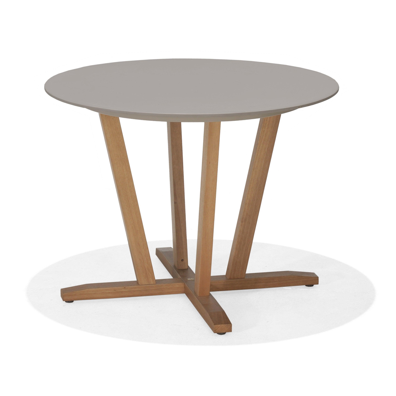 Table de jardin St tropez ronde taupe 4 personnes