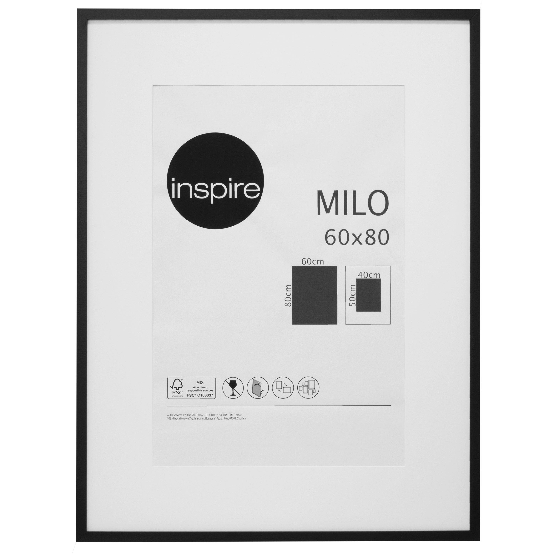 Cadre Milo, l.60 x H.80 cm, noir