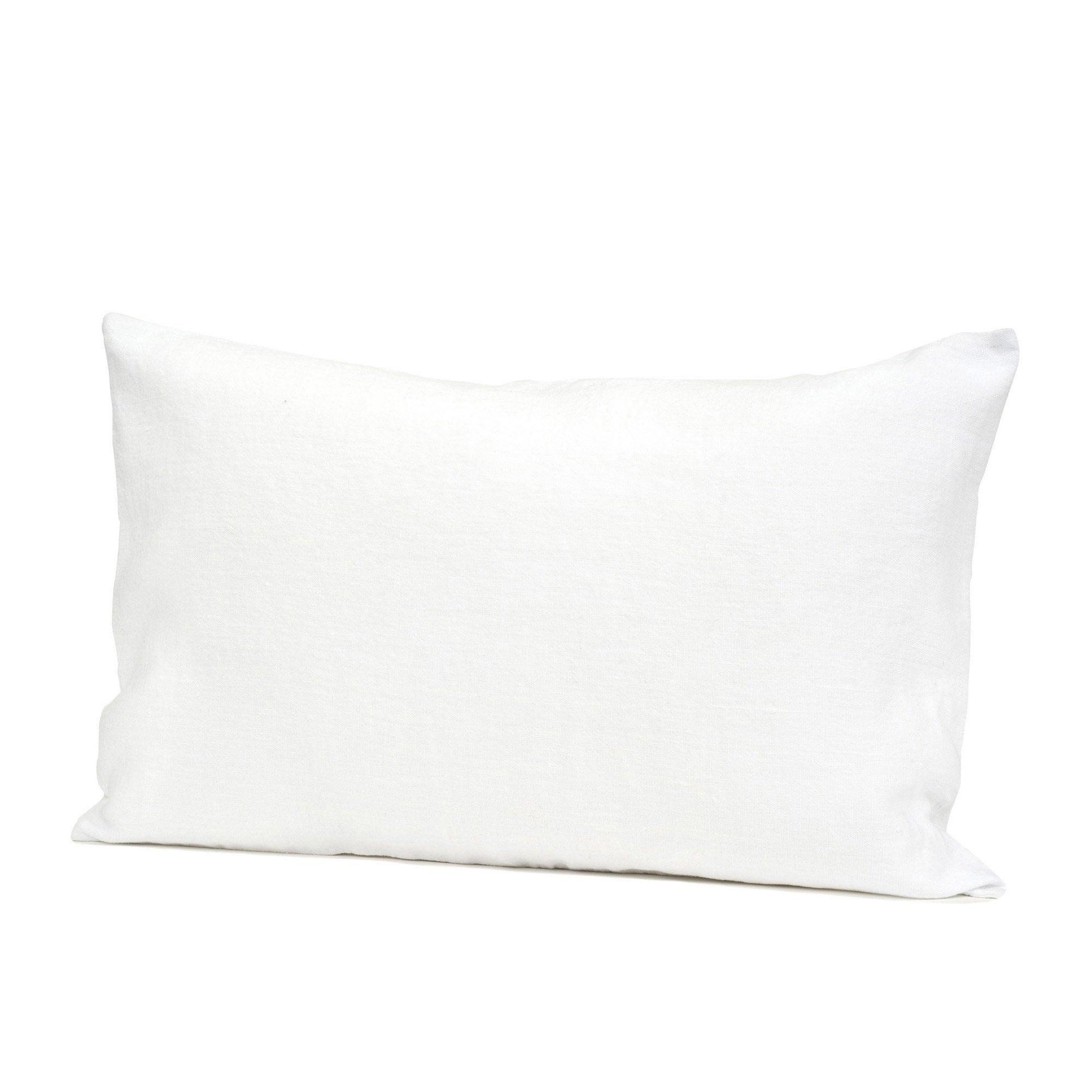 Coussin Solenzara lin lavé, blanc l.40 x H.60 cm