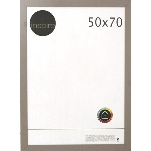 cadre riviera 50 x 70 cm brun taupe n 3 leroy merlin. Black Bedroom Furniture Sets. Home Design Ideas