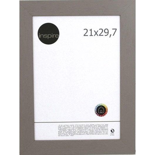 Cadre Riviera, 21 x 29.7 cm, brun taupe n°3