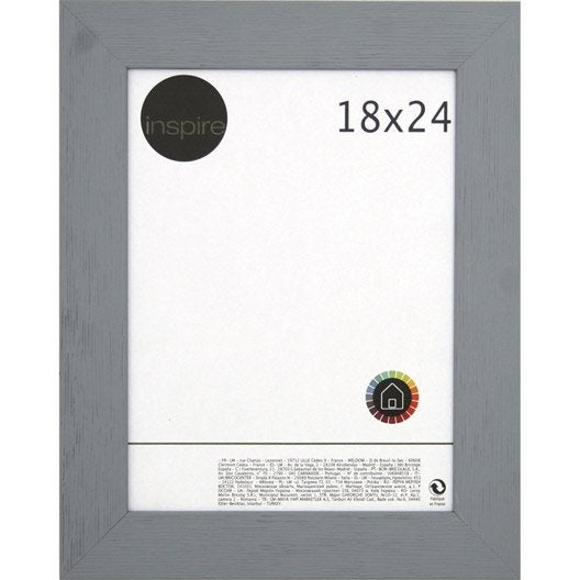 Cadre Riviera, 18 x 24 cm, gris galet n°3 | Leroy Merlin