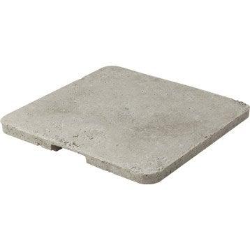 Couvercle béton gris LEGOUEZ, L.47 x l.47 x Ep.4 cm