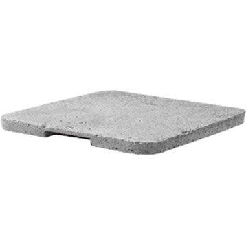 Couvercle pour regard béton gris LEGOUEZ, L.27 x l.27 cm