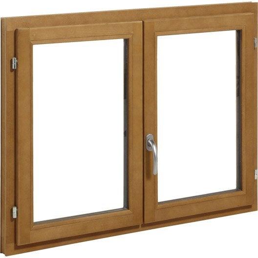 fen tre bois primo 2 vantaux ouvrant la fran aise x cm leroy merlin. Black Bedroom Furniture Sets. Home Design Ideas