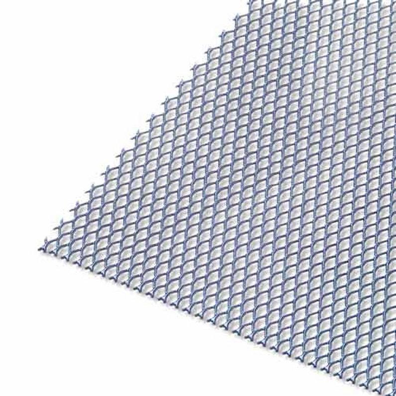 Tôle Aluminium Métal Déployé époxy Noir L25 X L50 Cm Ep16 Mm
