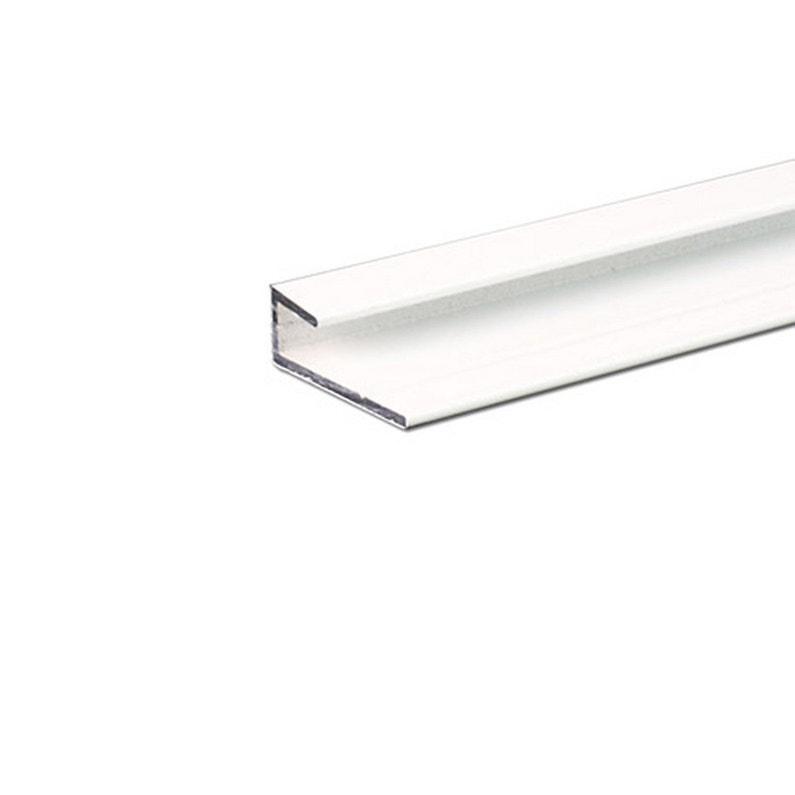 Cimaise Aluminium Lisse époxy Blanc L 2 5 X L 100 Cm Ep 1 3 Mm