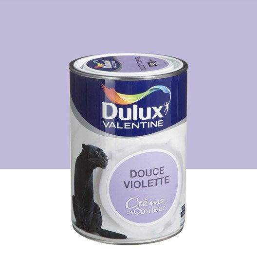 Peinture douce violette dulux valentine cr me de couleur l leroy merlin - Dulux valentine figue ...