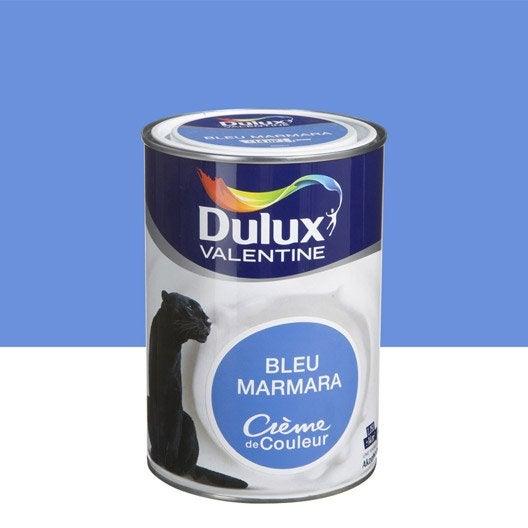 peinture bleu marmara dulux valentine cr me de couleur l leroy merlin. Black Bedroom Furniture Sets. Home Design Ideas