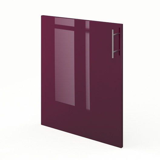 porte de cuisine violet rio x cm leroy merlin