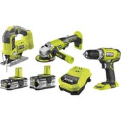 Perceuse sans fil RYOBI Bombo kit 3 outils one+, 18 V 1.5 Ah, 2 batteries