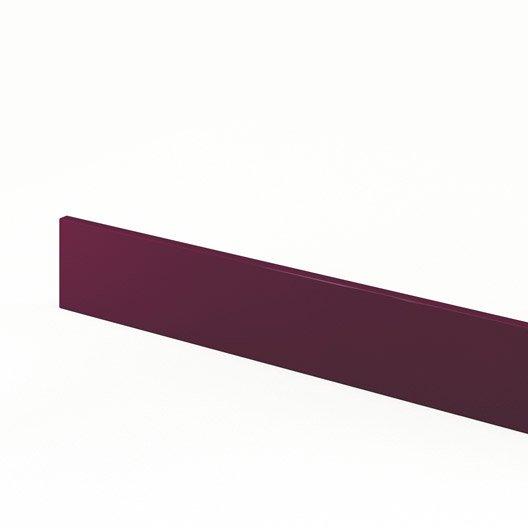 Plinthe de cuisine violet rio l 270 x h 15 cm leroy merlin for Plinthe cuisine 17 cm