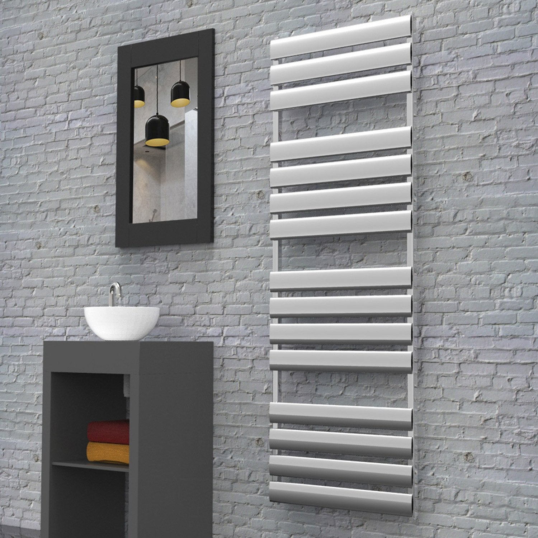 s che serviettes eau chaude aluminium hox modena 50 x 150 chrom brillant chrom leroy merlin. Black Bedroom Furniture Sets. Home Design Ideas