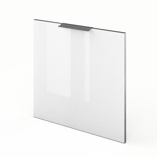 Porte pour lave vaisselle int grable de cuisine blanc for Meuble pour lave vaisselle integrable
