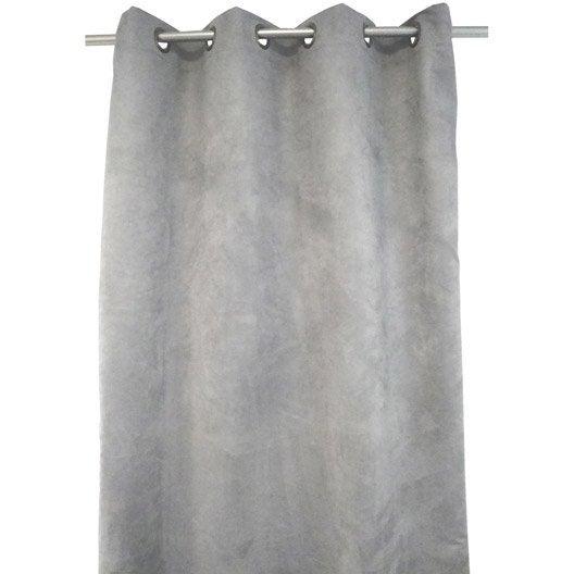 rideau occultant thermique et phonique leeds gris x cm leroy merlin. Black Bedroom Furniture Sets. Home Design Ideas