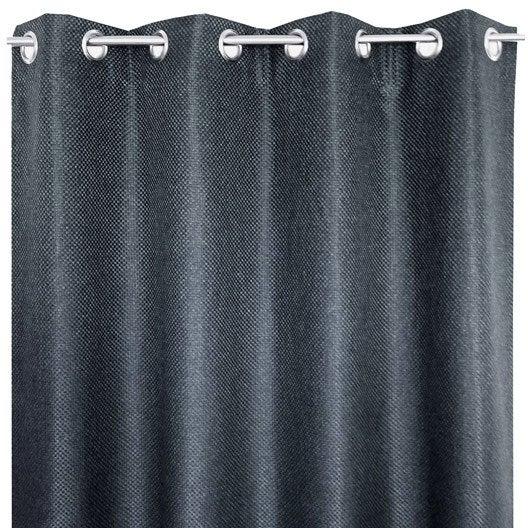 rideau tamisant grande hauteur helene gris x h. Black Bedroom Furniture Sets. Home Design Ideas
