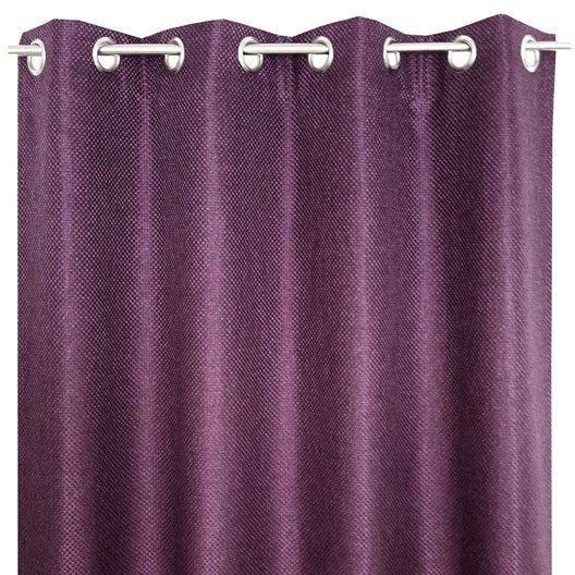 rideau grande hauteur helene cassis x cm leroy merlin. Black Bedroom Furniture Sets. Home Design Ideas
