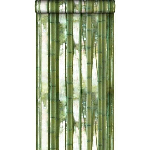 Papier peint intissé Bamboo vert