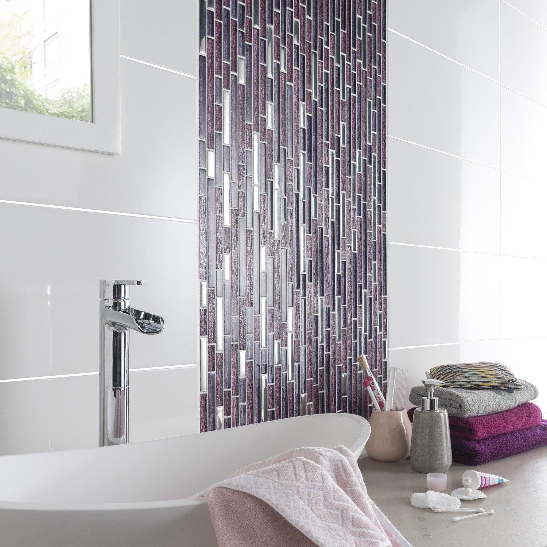 salle de bain prune