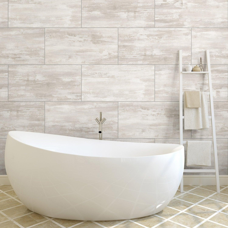 Dalle PVC Adhsive White Concrete L30 X L60 Cm Ep3 Mm