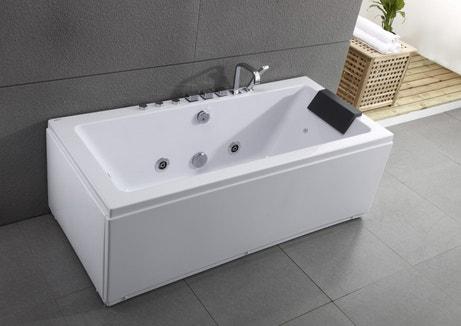 Une baignoire balnéothérapie rectangulaire