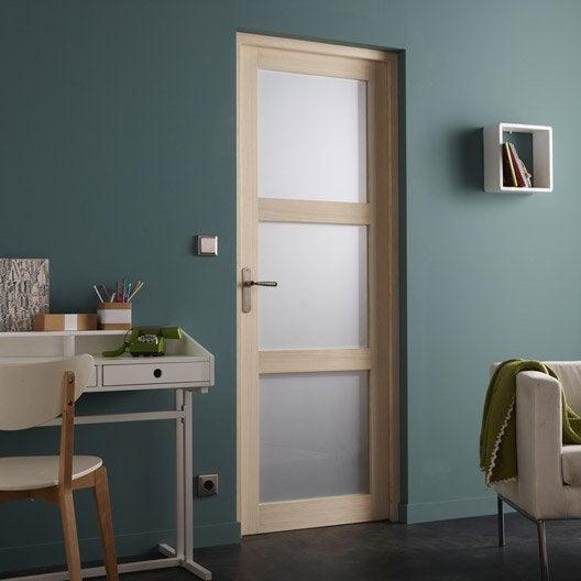 bloc porte paulownia plaqu bowen x cm leroy merlin. Black Bedroom Furniture Sets. Home Design Ideas