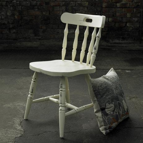 Superbe effet pour cette chaise relookée