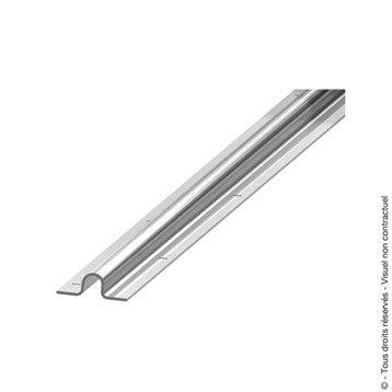 Rail de guidage acier galvanisé, H.90 x L.2000 x P.20 mm