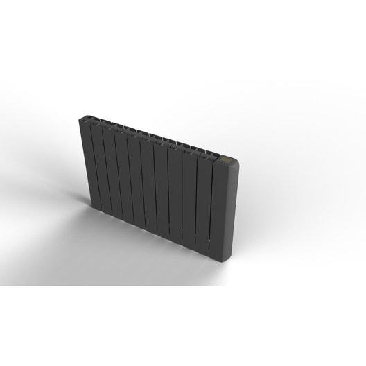 radiateur lectrique inertie fluide equation alidea noir 1800 w leroy merlin. Black Bedroom Furniture Sets. Home Design Ideas