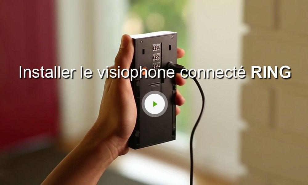 visiophone connect sans fil ring bronze leroy merlin. Black Bedroom Furniture Sets. Home Design Ideas