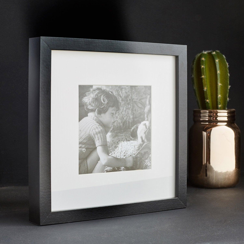 Cadre Milo, noir,  16 x 16 cm