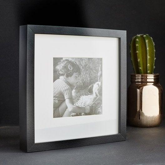 Cadre Milo, 17 x 17 cm, noir
