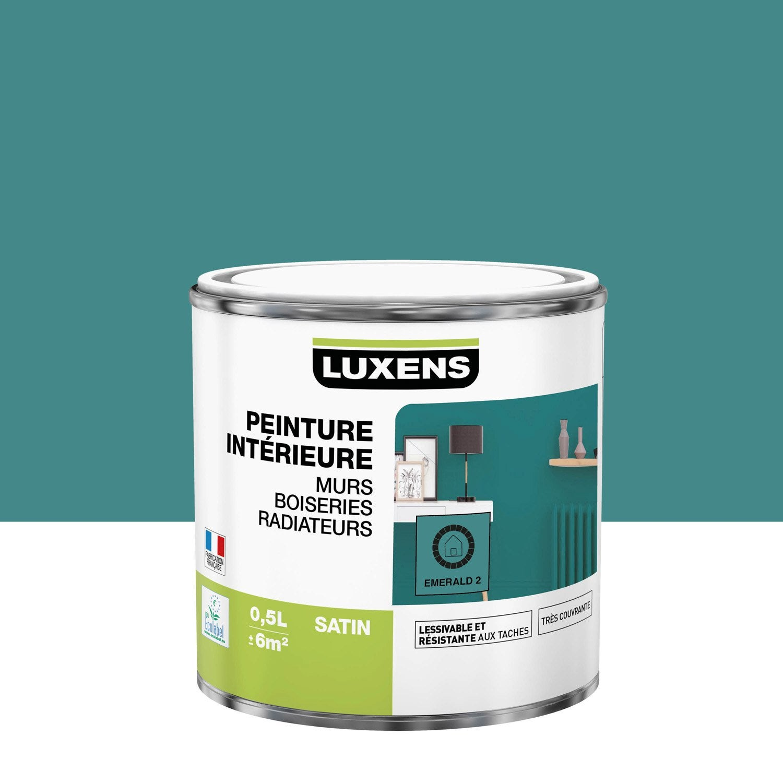 Peinture, mur, boiserie, radiateur, Multisupports LUXENS, emerald 2, satin, 0.5