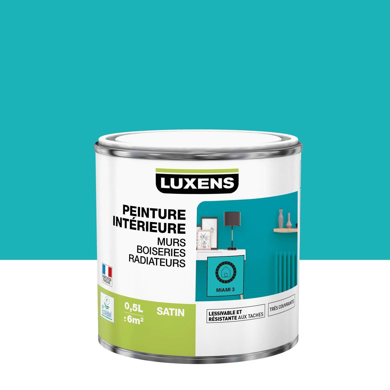 Peinture, mur, boiserie, radiateur, Multisupports LUXENS, miami 3, satiné, 0.5 l