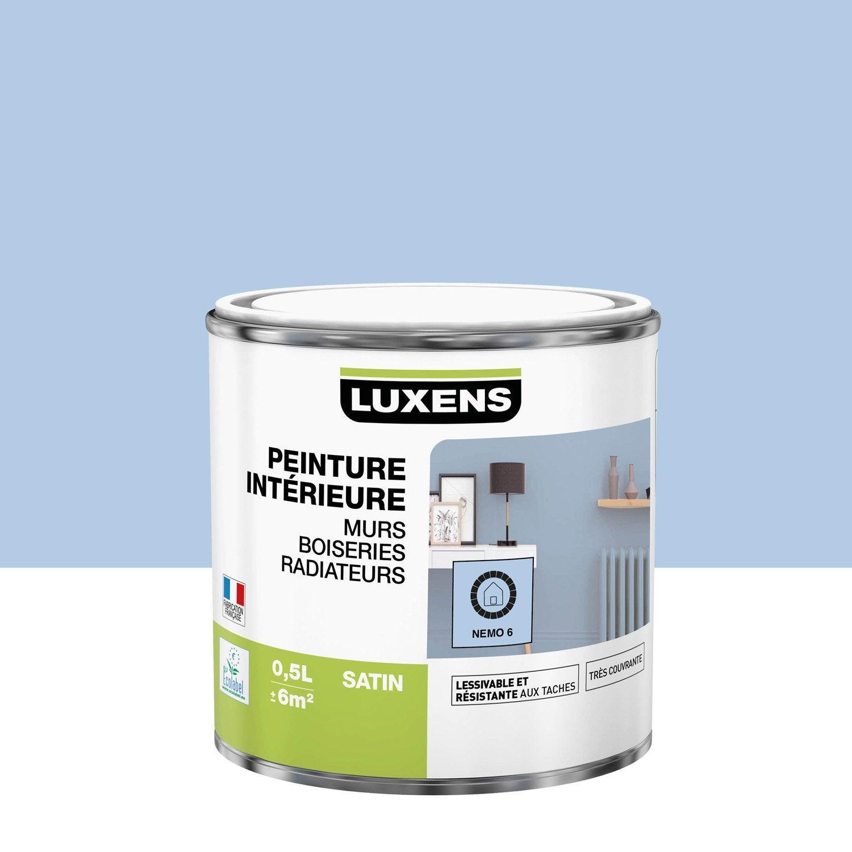Peinture mur, boiserie, radiateur Multisupports LUXENS nemo 6 satiné 0.5 l