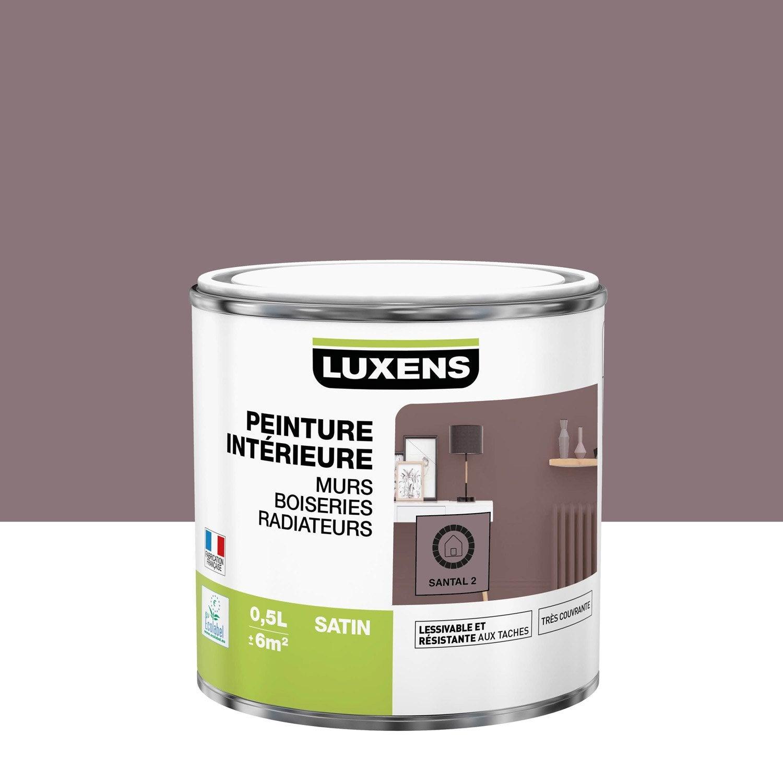 Peinture, mur, boiserie, radiateur, Multisupports LUXENS, santal 2, satin, 0.5 l