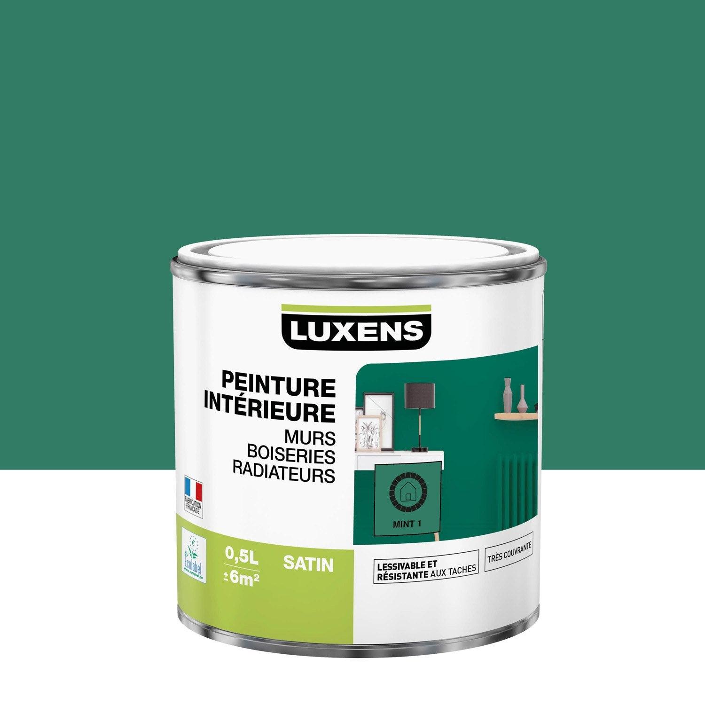 Peinture mur, boiserie, radiateur Multisupports LUXENS, mint 1, 0.5 l, satin