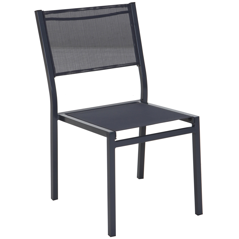 chaise de jardin en acier anthracite  leroy merlin