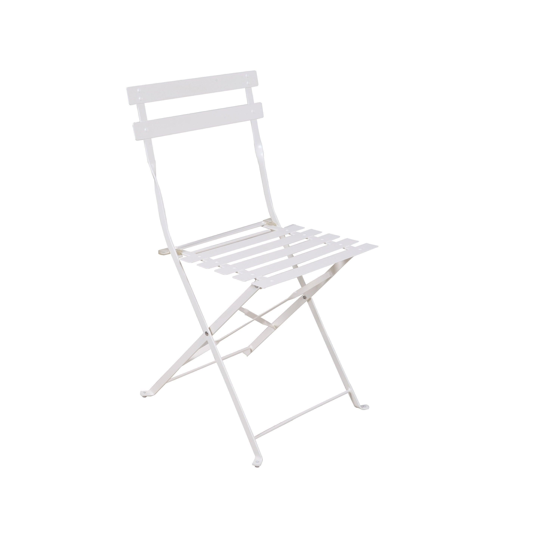 blanc jardin Chaise acier en de origami Flora FuT1c5K3lJ