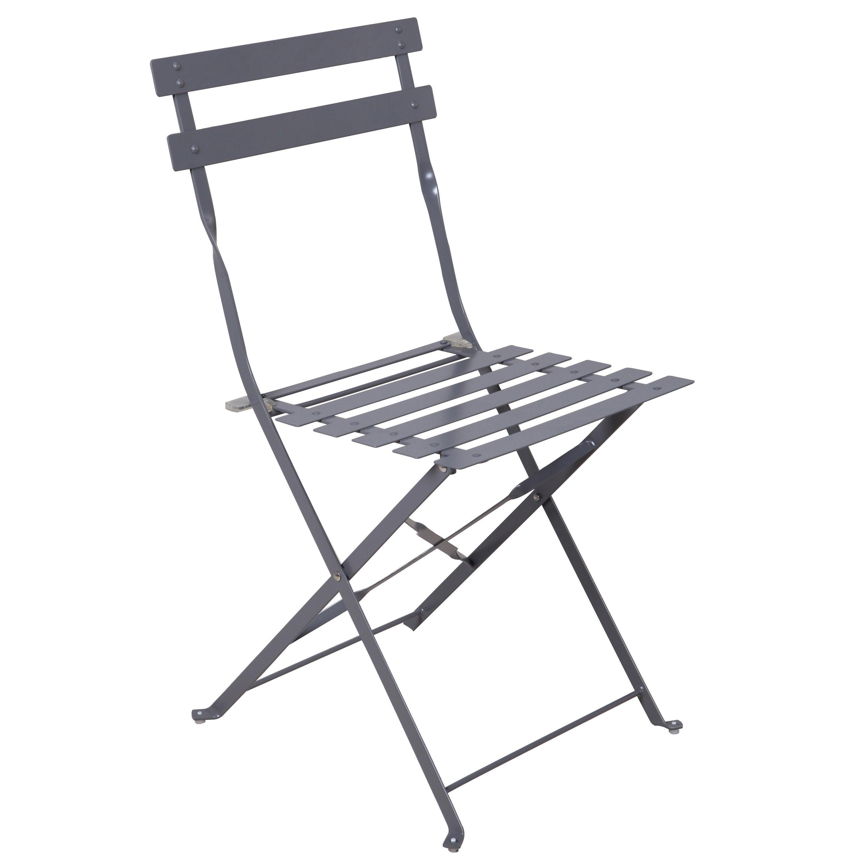 chaise de jardin en acier flora origami anthracite  leroy